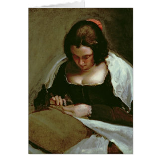 The Needlewoman, c.1640-50 Card