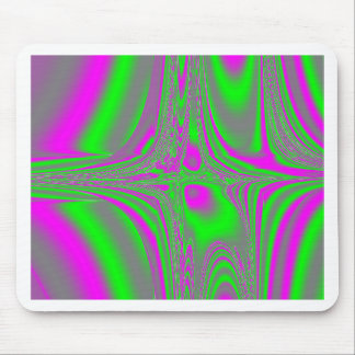 The neon sound wave collection mouse pad