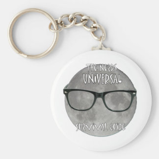 The Nerds Universal Survival Guide Basic Round Button Key Ring