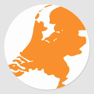 The Netherlands Classic Round Sticker