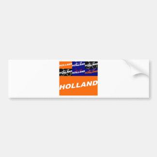 The Netherlands Cycling Bumper Sticker