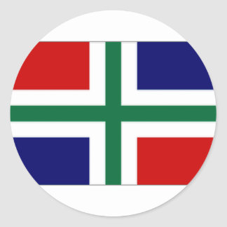 The Netherlands Groningen Flag Classic Round Sticker