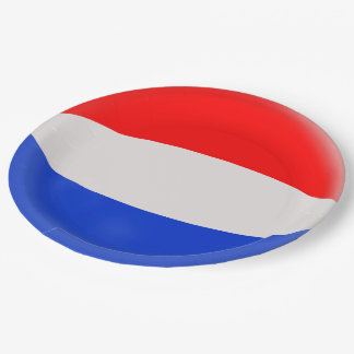 The Netherlands Holland Dutch Flag Paper Plate