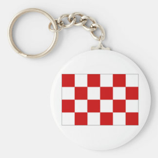 The Netherlands Noord Brabant Flag Key Ring