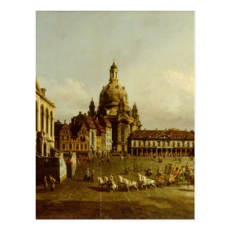 The Neuer Marktplatz in Dresden Bernardo Bellotto Postcard