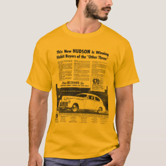 The New 1940 HUDSON Automobile Gold T-Shirt