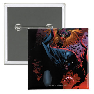 The New 52 - Batman and Robin #1 15 Cm Square Badge
