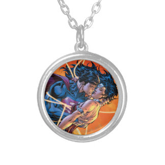 The New 52 Cover #12 Silver Plated Necklace
