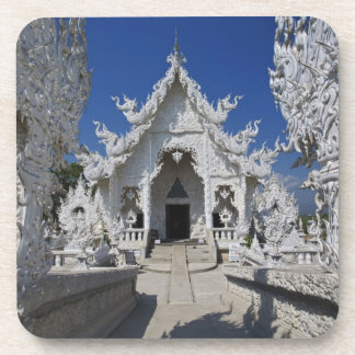 The new all white temple of Wat Rong Khun in Drink Coasters
