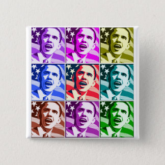 The New America, President Barack Obama .ized 15 Cm Square Badge