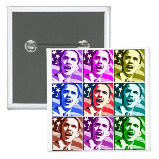 The New America, President Barack Obama .ized Pinback Buttons