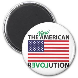 The New American Revolution 6 Cm Round Magnet