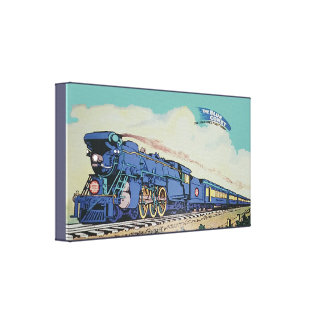 The New Jersey Central Blue Comet Train Canvas Print