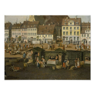 The New Market in Berlin with the Marienkirche Poster