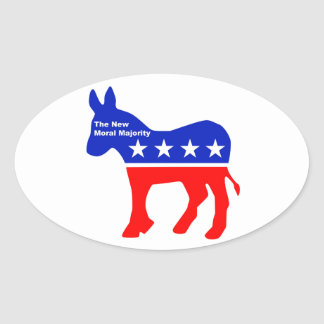 The New Moral Majority sticker