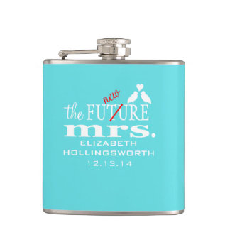 The New Mrs.-Brides Hip Flask