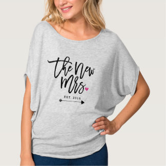 The New Mrs. Est. Your Wedding Year Shirts