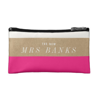 The New Mrs. Hot Pink Cosmetic Bags