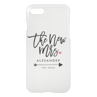 The New Mrs. (Name) (Est. Your Wedding Year) iPhone 7 Case
