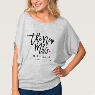 The New Mrs. (Name) Est. Your Wedding Year T Shirts