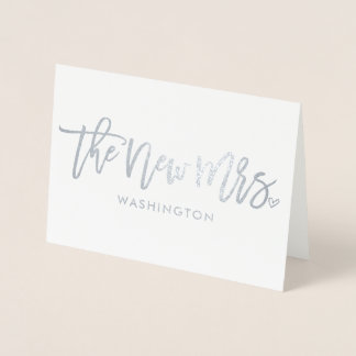 The New Mrs. (New Last Name) Foil Script Foil Card