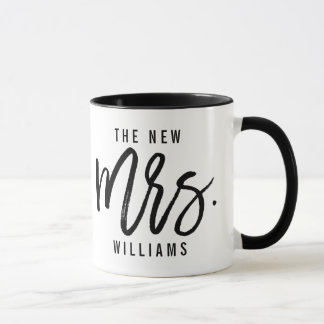 The New Mrs Personalized Bride Mug