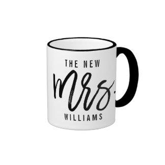 The New Mrs Personalized Bride Ringer Mug