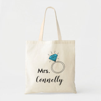 the new mrs tote bag