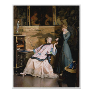 The New Necklace, William McGregor Paxton Poster