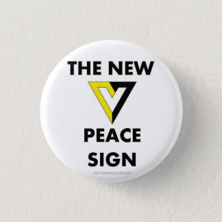 The New Peace Sign 3 Cm Round Badge