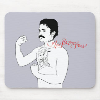 The New Pornographers Grey Boxer Mouse Pads