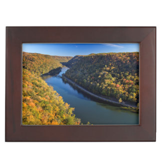 The New River Gorge At Hawks Nest State Park Memory Box