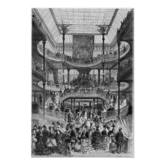 The New Staircase in 'Au Bon Marche' Poster