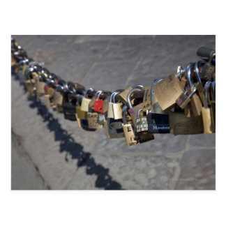 the new tradition of 'locks of love' attached by postcard