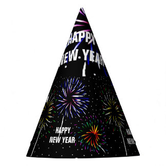 The New Year light in the sky show Party Hat