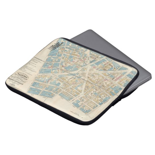 The New York Academy of Medicine - Manhattan Map Laptop Sleeve