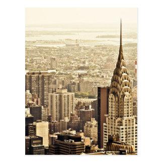 The New York City Skyline & the Chrysler Building Postcard