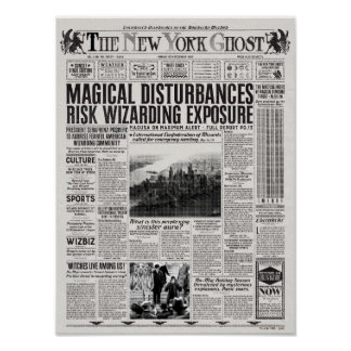 The New York Ghost Newspaper Poster