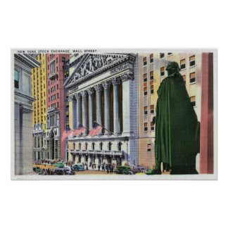 The New York Stock Exchange Bldg Poster