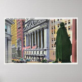 The New York Stock Exchange Bldg Poster