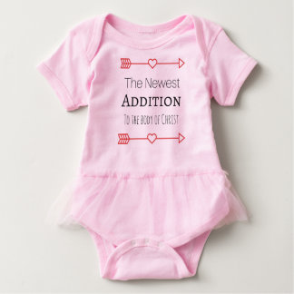 """""""The Newest Addition"""" for baby girls Baby Bodysuit"""