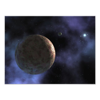 The newly discovered planet-like object photo print