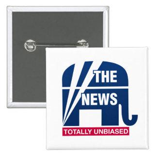 The News:  Totally Unbiased 15 Cm Square Badge