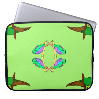 the nice parrots laptop sleeve