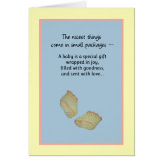 The nicest things come in small packages, New Baby Card