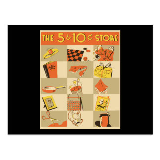 The nickel and dime store postcard