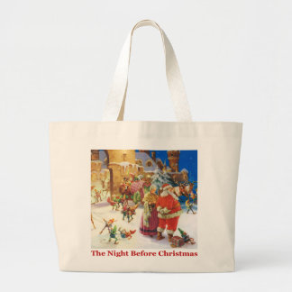 The Night Before Christmas at the North Pole Jumbo Tote Bag