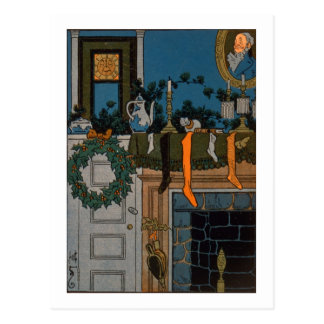 The Night Before Christmas by Denlow, 1903 (colour Postcard