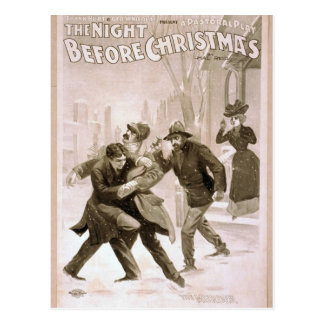 The Night before Christmas, 'The Murder' Retro The Post Cards