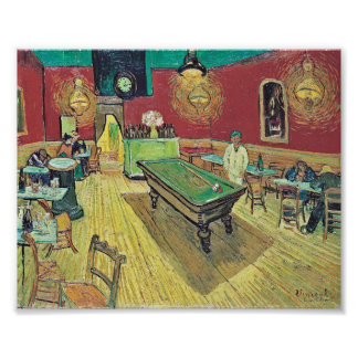 The Night Cafe by Van Gogh Poster